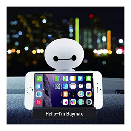 Cartoon Plastic Baymax Robot Shaking Head Figure Car Ornaments Auto Interior Decorations Big Hero Doll Toys Ornament Accessories (Color : Style C(with Base))