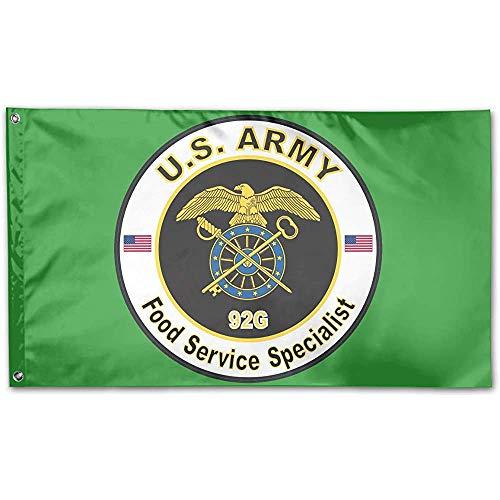 Niet van toepassing Thuis Tuinvlag, Leger Mos 92G Voedsel Service Specialist Kleurrijke Vlag Banners Voor Familie Vakantie Decoratie, 90x150cm