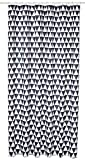 Bisk Duschvorhang schwarz Design mit Ringen, 180x 200cm