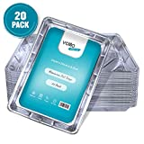 Disposable Foil Trays Aluminium Foil Large Containers for Baking, Cooking, Freezing and Storing Trays - 32cm x 20cm x 3.3cm - (20 Pack)