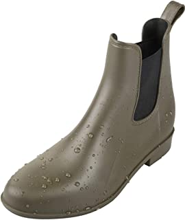 Chelsea Boots-Waterproof Boots Women On Ankle Rain Boots in Raining Days