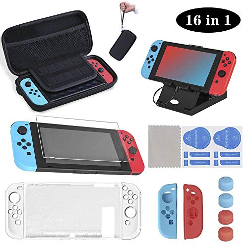 16 en 1 Kit de Accesorios para Nintendo Switch, Funda para Nintendo Switch,...