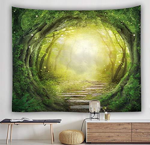 WERT Hermoso Bosque Natural Impreso Tapiz de Pared Hippie Bohemio Tapiz de Pared Mandala decoración de Arte de Pared A12 200x150cm