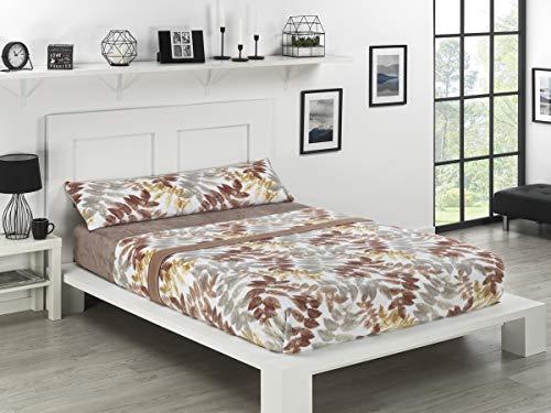 NH NOVOTEXTIL HOGAR Juego de sábanas de coralina 3 Piezas Varias Medidas,Modelos y Colores (Cama 135, Michigan)