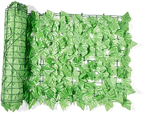 wsbdking Konstgjord Faux Ivy Hedge Grape Leaf Garden Sekretess Skärmvägg Sekretess Screening Hedge Artificial Balkong Fence 524 (Color : Light Green, Size : 0.5x1M)