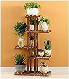 chishizhenxiang Soporte de 5 capas para flores, 10 macetas, soporte de madera...