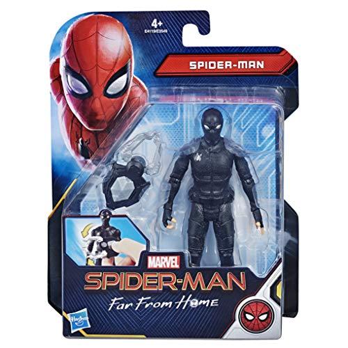 Hasbro Spider-Man- Far from Home Spider-Man Action Figure da 15 Cm con Stealth Suit, Multicolore, E4119Es0