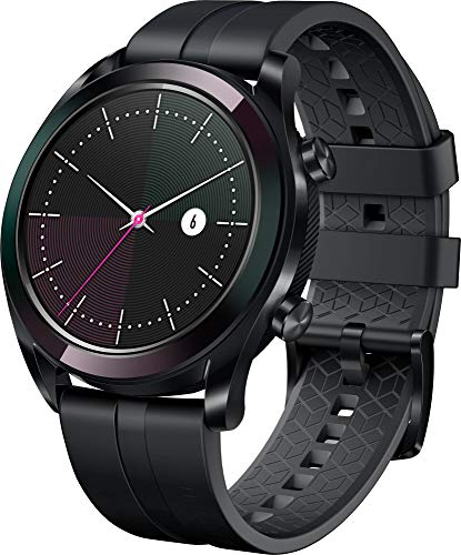 Huawei Watch GT Elegant Smartwatch (42 mm Amoled Touchscreen, GPS, Fitness Tracker, Herzfrequenzmessung, 5 ATM wasserdicht) Schwarz