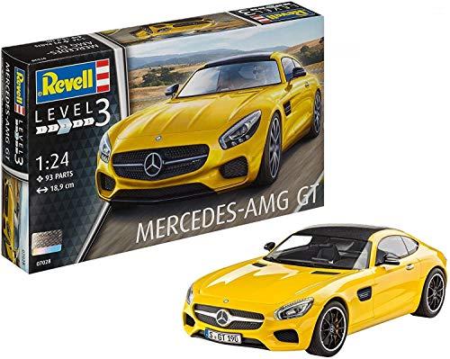 Revell Mercedes AMG GT Escala 1/24-Revell RE07028, Color Amarillo, 18,9 cm de Largo (07028)