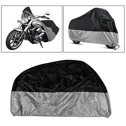 Cubierta de Motocicleta Toda la Temporada Impermeable Sol de protección al Aire Libre Cubierta de Scooter con Agujeros de Bloqueo a Prueba de lágrimas (Size : XXL)