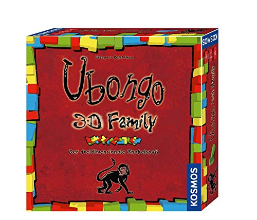 Kosmos 694258 Ubongo 3-D Family, Der Action- und Knobelspaß für die ganze Familie in 3D Brettspiel: 1 - 4 Spieler