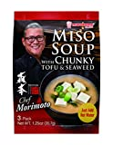 Marukome Chef Morimoto Miso Soup with Tofu and Seaweed, 1.25 Ounce (Pack of 12)