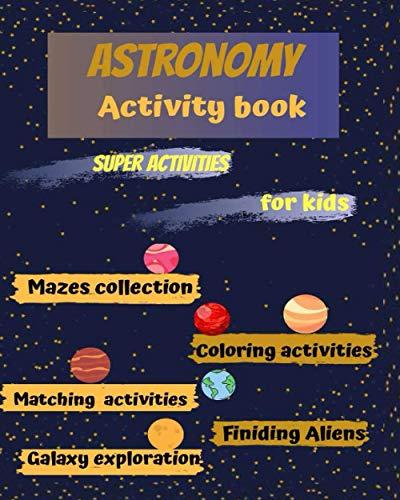 Astronomy Activity book: preschool workbook,preschool learning,gift idea,solar system,word search book,pre school activites,5 year old learning ... about space,space book