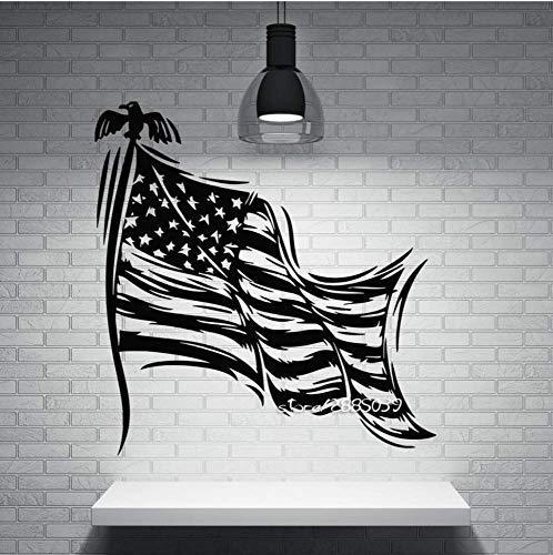 Muurstickers Sterren Gestreept Symbool Van De Staat Vlag Van De Vs Muurstickers Perfecte Kwaliteit Behangposter 57X64Cm