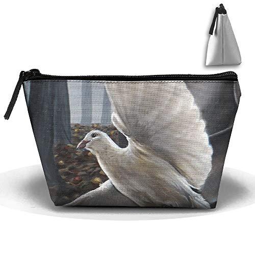 Toilettas make-up reis cosmetische tas vliegen duif schilderij draagbare telefoon muntopslag