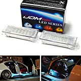 iJDMTOY (2) 18-SMD LED Side Door Courtesy Lamp Assy Compatible With BMW 1 3 5 6 7 Series Z4 X3 X5 X6, OEM Replacement, Powered by Ice Blue Aqua LED Lights & CAN-bus Error Free