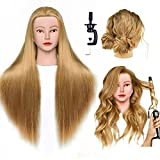 Cosmetology Mannequin Head Hair Styling Head Training Head Manikin Doll Head with Free Clamp Holder for Hairdressers Practice and Braiding Hair Practice for kids
