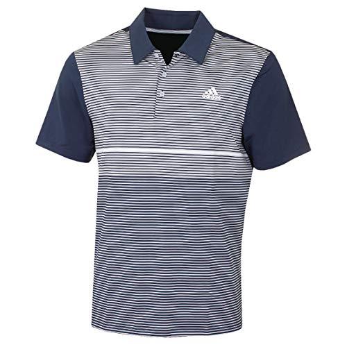 adidas Golf Mens Ultimate Color Block Polo Shirt NavyGrey XL