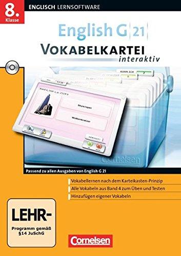 English G 21 - Lernsoftware - Vokabelkarteien interaktiv - zu allen Ausgaben: Band 4: 8. Schuljahr - CD-ROM (English G 21 / Vokabelkarteien interaktiv - Lernsoftware zu allen Ausgaben)