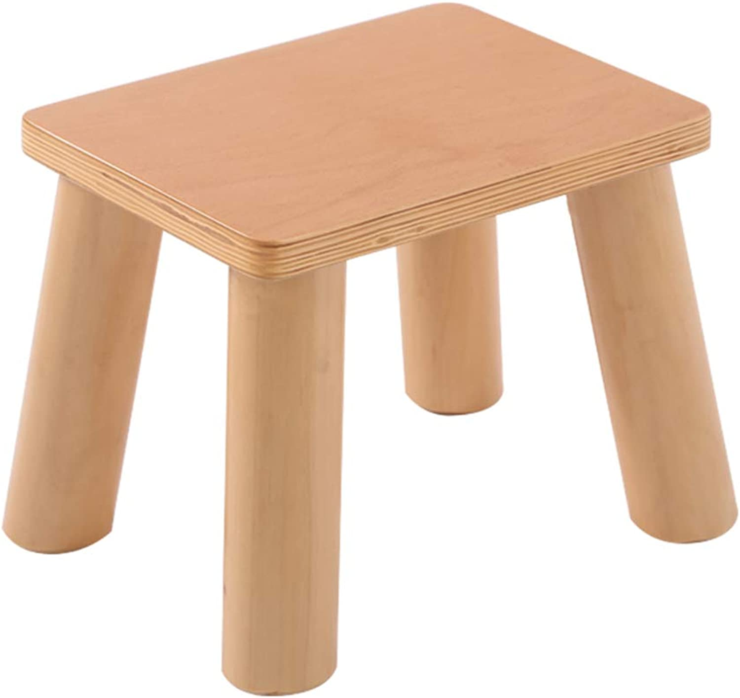 ZHIRONG Low Stool Solid Wood Household Change shoes Stool (Size   B)