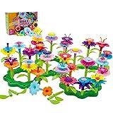 Bloques De Construcción Para Niños, Bloques De Juguete De Construcción De Jardín De Flores Set Arreglo Floral Playset Arts And Crafts Para 11 Colores Juegos Creativos, Regalos De Cumpleaños (98 PCS)
