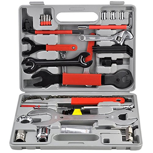 MCTECH® 44 TLG. Fahrrad Werkzeug Fahrrad Reparaturset Fahrrad Werkzeugkoffer Tool Set