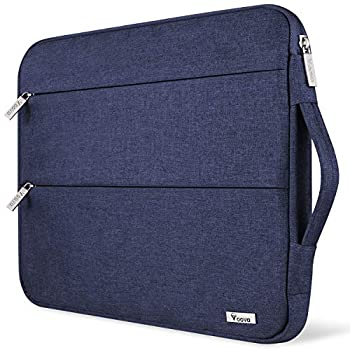 Voova 15.6 14 15 Inch Laptop Sleeve Case with Handle Waterproof Computer Cover Bag with Pocket Compatible with 2019 MacBook Pro 16/15 Dell Lenovo HP Asus Acer Samsung Chromebook Blue