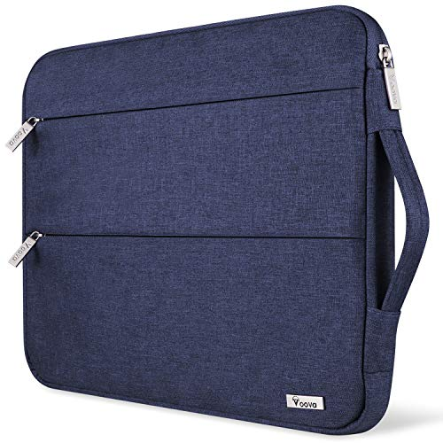 Voova 13 13.3 Inch Laptop Sleeve Case Compatible with MacBook Air/MacBook Pro 13 2012-2020 M1, 13.5 Surface Book/Laptop 3 2, Acer Asus Dell chromebook, Waterproof Computer Bag Cover with Handle, Blue