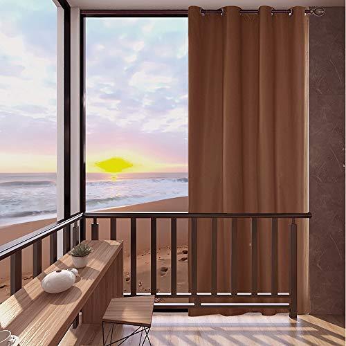 Topchances Outdoor-Schattenspender für den Garten, Netz-Isolierung, Wärmedämmung, wasserdicht, Anti-Ultraviolett, Anti-Schimmel und weiße Vorhänge (Kaffeefarbe 137,2 x 243,8 cm)