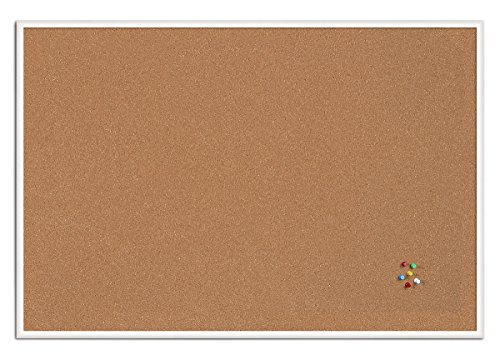 Bi-Office New Basic - Tablero de corcho, 885 x 585 mm, color blanco