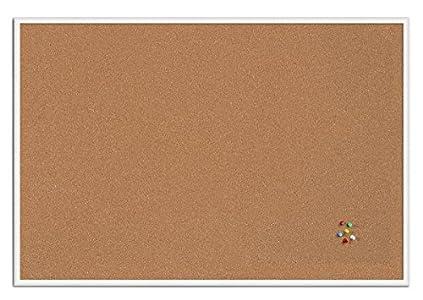 Bi-Office New Basic - Tablero de corcho, 885 x 585 mm, color blanco