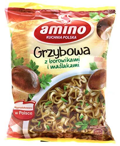 Amino - Nudel - Pilzsuppe mit Butterpilzen und Steinpilzen 57g