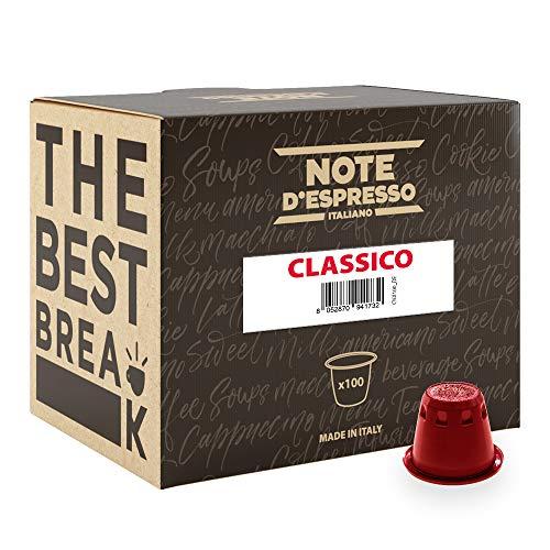 Note D'Espresso Classico Kaffeekapseln, ausschließlich kompatibel mit Nespresso*-Kapselmaschinen 5,6g x 100 Kapseln