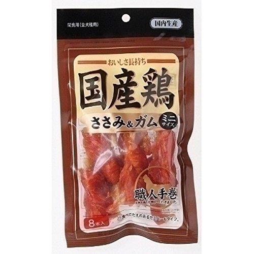 (まとめ買い)アスク 国産鶏 ささみ&ガム ミニ 8本入 犬用おやつ 【×6】