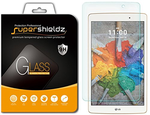 Supershieldz for LG G Pad X 8.0 Tempered Glass Screen Protector, Anti Scratch, Bubble Free