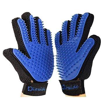 Dioxide 2 PCS XiDe Gant de Toilettage Deshedding Brush Glove Massage Brosse pour Cheveux Gant de Massage pour Toilettage Doux et Efficace pour Chiens & Chats Toilettage Massage Groomer