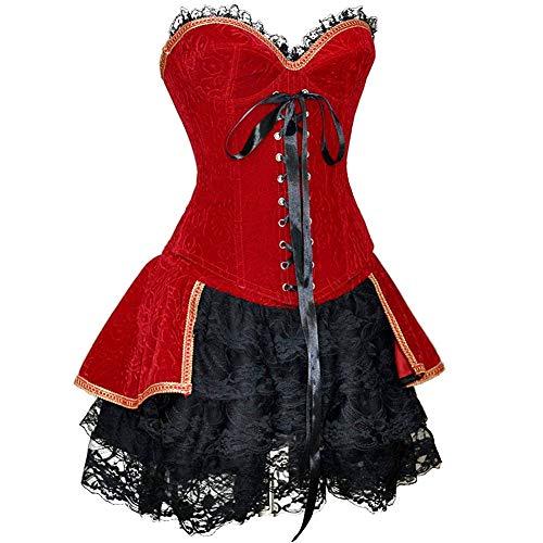 SZIVYSHI de Halloween Atractivo Romance Burlesco Vendimia Fullbreast c