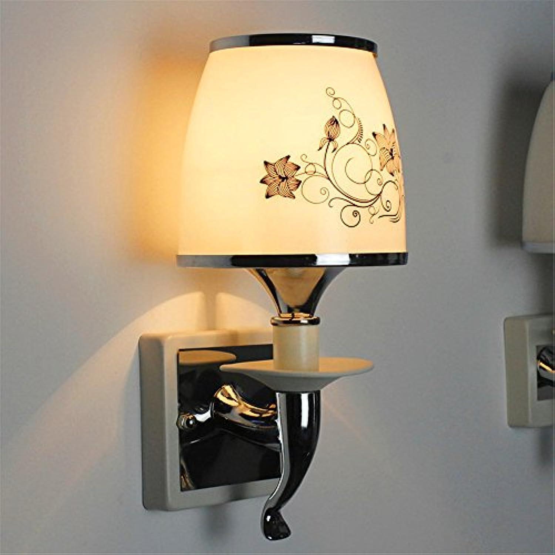 StiefelU LED Wandleuchte nach oben und unten Wandleuchten Netzteil-LED Glas Dual Head Hotel nachttischlampe Wandleuchte B 8067 (e7 b5) funktioniert.