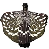 Shireake Baby Halloween/Party Prop Soft Fabric Butterfly Wings Shawl Fairy Ladies Nymph Pixie Costume Accessory … (197 x 130CM, Black Eagle)