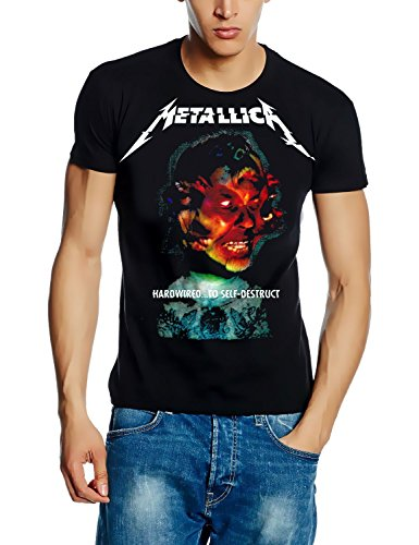 Metallica T-Shirt Hardwired.to SELF-Destruct Cover Album Shirt, Schwarz, GR.XXL