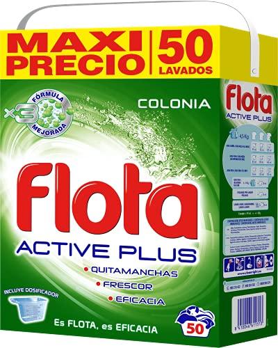 Flota Detergente Polvo Active Plus Colonia Maleta 50 Cacitos