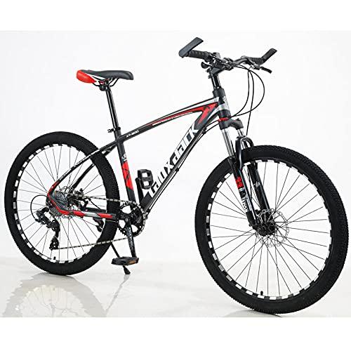 Aluminiumlegierung Mountainbike, Stoßdämpferölbremse, Mountainbike-Schwarzrot (Hintere Geschwindigkeit)_30-Gangelektro Klapprad
