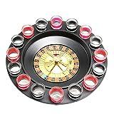 Juego de gafas de fiesta de casino Spin & Shot ruleta para adultos a partir de 18 años