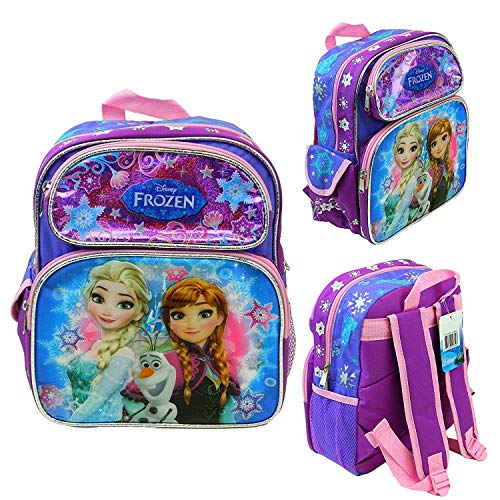 Disney Frozen Anna Elsa 12' School Backpack Kid's Toddler Book Bag Canvas New