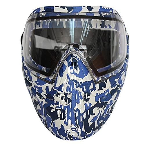 Casco protettivo tattico, maschera di vernice mimetica può proteggere l'intera testa, utilizzata per l'esterno, l'allenamento sul campo, l'attrezzatura del campo...