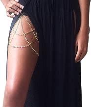 BestQT Women Sexy Rhinestone Leg Chain Body Chain Jewelry Thigh Leg Chain Bracelet Leg Jewelry for Party Beach Accessories
