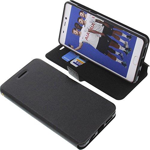 foto-kontor Tasche für Leagoo T5C Book Style schwarz Schutz Hülle Buch
