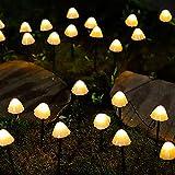 Solares de jardín, Luces LED 6.5M 30 Estaca Hada de la Seta de la lámpara al Aire Libre Camino de iluminación Decorativa para el césped, Patio, Adorno, Summer Party