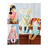 Simplicity Stuffed Doll with Clothes Art and Craft Sewing Template, One Size Only