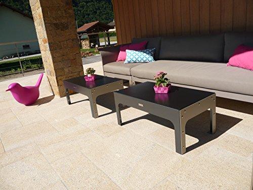 Styl'Métal 21 Table Basse Lounge métal Noir et Taupe